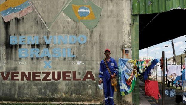 Pacaraima, na fronteira entre Brasil e Venezuela