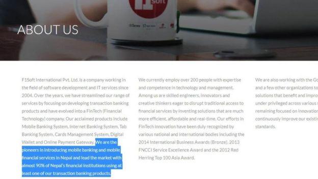 विवादमा परेको सिरान टेक्नोलोजिज्को माउ कम्पनी एफवन् सफ्टले नेपालका ९० प्रतिशत वित्तिय संस्थाहरूले एउटा न एउटा उसको भुक्तानी प्रविधि प्रयोग गरिरहेको आफ्नो वेबसाइटमा उल्लेख गरेको छ।