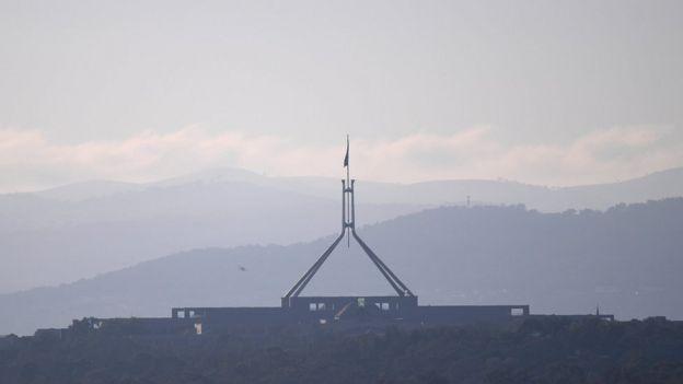 Imagem do Parlamento australiano, em Canberra
