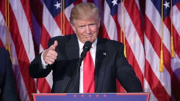 Trump durante las elecciones