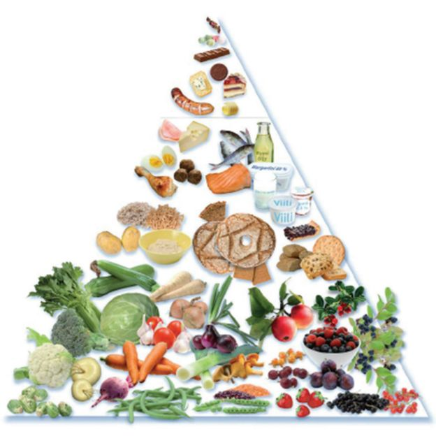 Pirámide de la dieta del Mar Báltico.