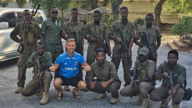 強尼‧沃德在索馬里的旅遊照片。