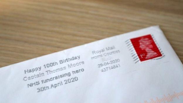 英国邮政为他百岁寿辰专制纪念邮戳
