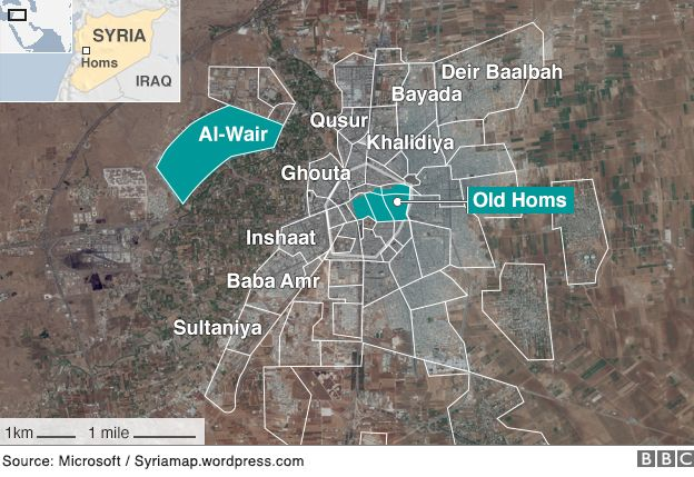 Homs Syrian revolutions fallen capital BBC News
