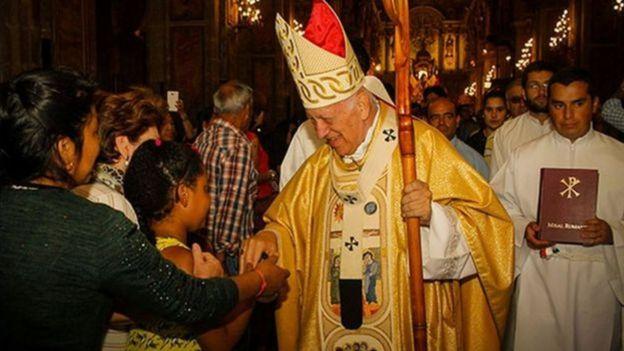 Arcebispo de Santiago, no Chile