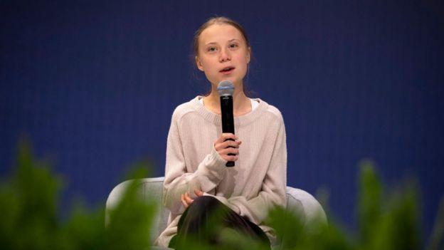 Greta Thunberg en la COP25.