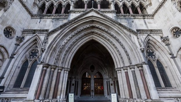 The outside of the Royal Courts of Justice in central London