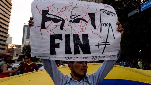 Protesta antichavista en Venezuela