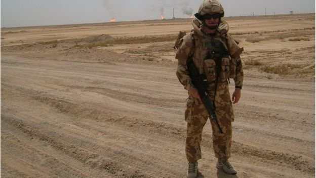 Paul Burt on patrol in Basra 2007