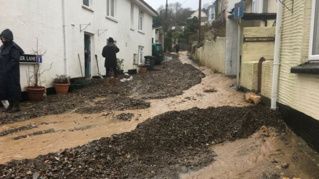 flooding Combe Martin