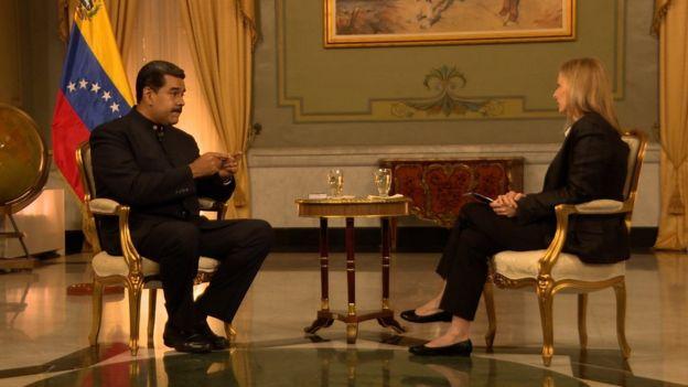 Nicolás Maduro y Orla Guerin