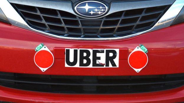 Calcomanía de Uber
