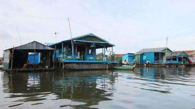 Khu nhà nổi ở tỉnh Kampong Chhnang
