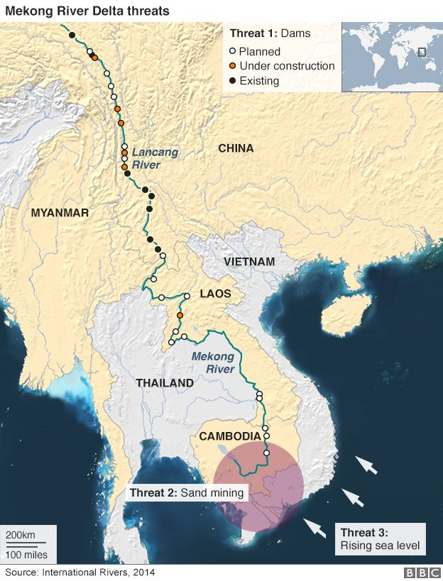 Climate Change Mekong Delta Heads For Troubled Waters BBC News - Saltwater intrusion map us