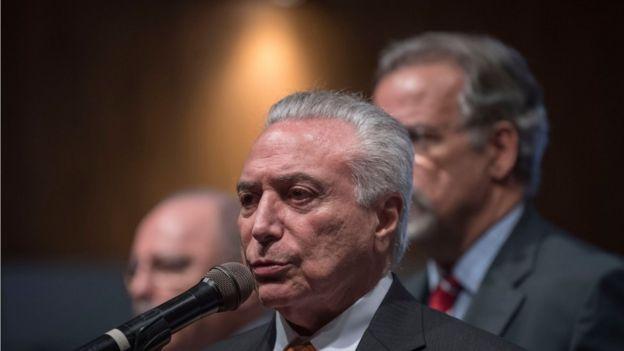 Presidente brasileño, Michel Teme.