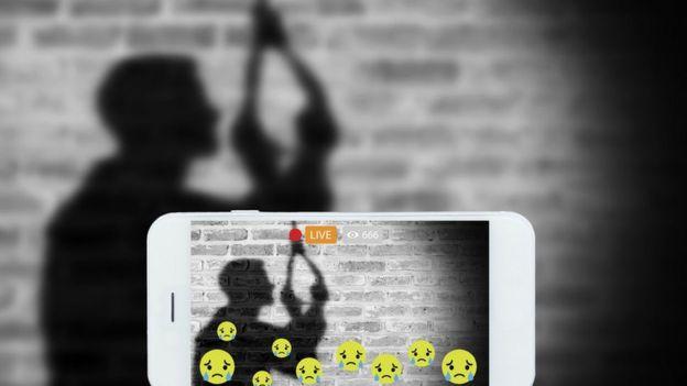Ilustración sobre crímenes en internet