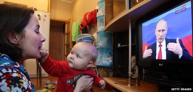 Russian TV viewer