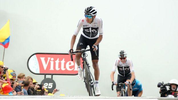 Egan Bernal fue uno de los principales gregarios en el Tour de Francia.