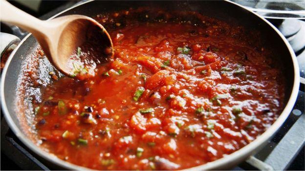 طماطم مطهوة