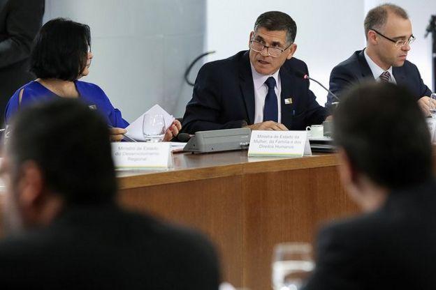 Reunião de ministros do governo