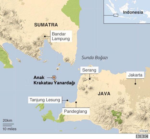 Sumatra Yanardağ haritası