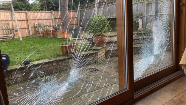 Smashed windows