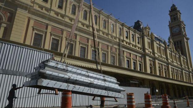 Restauração do telhado do Museu da Língua Portuguesa é finalizada (18/07/2018)