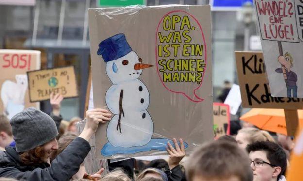 iklim değişikliğine karşı öğrenci protesosu