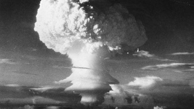 Imagem de uma detonação nuclear