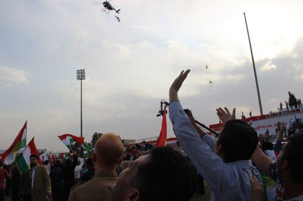 Barzani mitingi