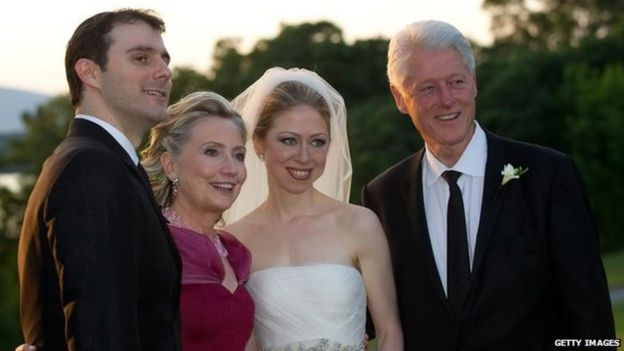 Июль 2010, Клинтон на свадьбе дочери