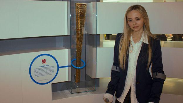 Ashleigh Harley y la antorcha olímpica