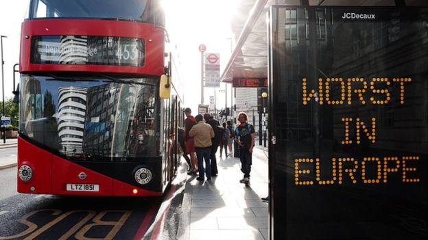 Автобусная остановка в Лондоне