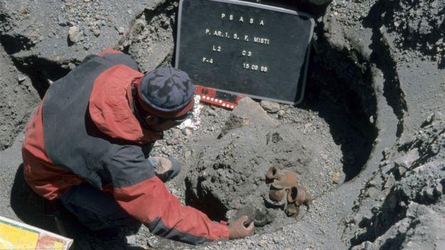 Tumba no vulcão Misti, perto de Arequipa, no Peru