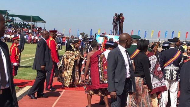 Celebração dos 50 anos de independência da Suazilândia