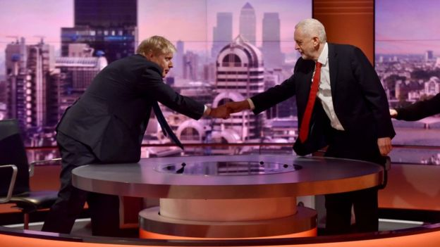 Boris Johnson and Jeremy Corbyn