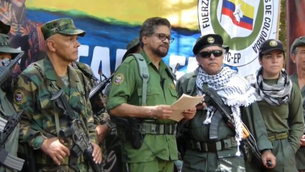 Captura de pantalla del video en el que Iván Márquez anuncia que retoma las armas.