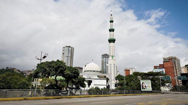 Fachada da mesquita em Caracas.