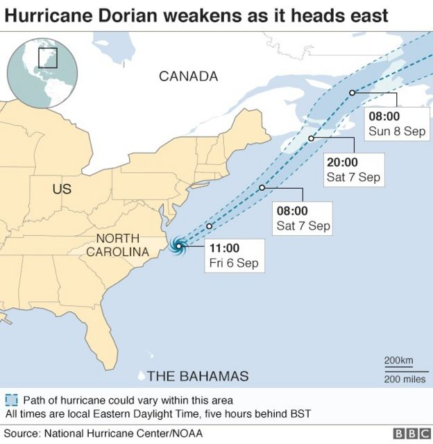Hurricane Dorian: Hundreds flee chaos in storm-ravaged ...