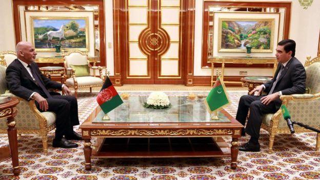 رئیس جمهور ترکمنستان در دیدار با آقای غنی مسابقات آسیایی را جشن مشترک افغانستان و ترکمنستان خواند