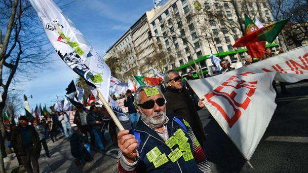 Protesta Portugal.