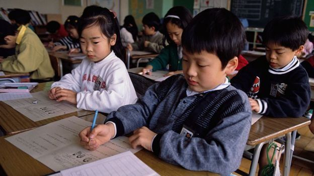 Murid sekolah dasar Jepang.