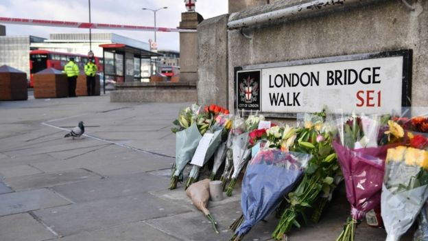 Flores en el London Bridge Walk