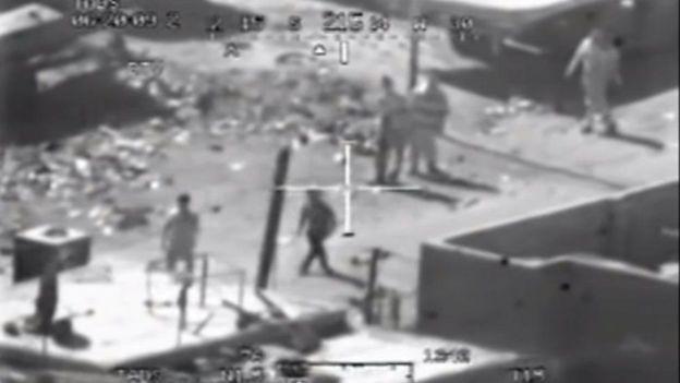 فيديو لهجوم بطائرة هليكوبتر