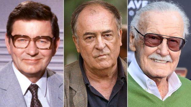 Richard Baker, Bernardo Bertolucci and Stan Lee