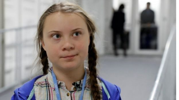 Teenage activist Greta Thunberg is seen inside the venue of the COP24 U.N. Climate Change Conference 2018 in Katowice,