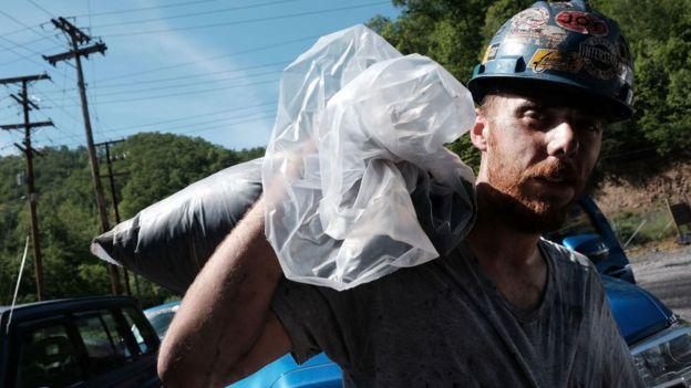 Un trabajador del carbón.