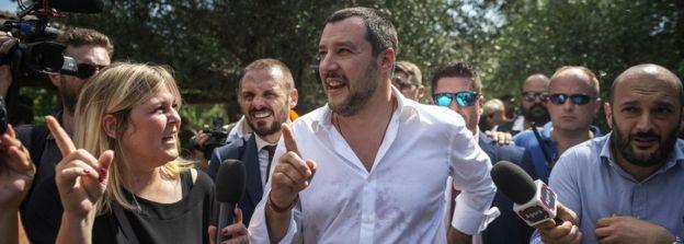 Deputy Prime Minister Matteo Salvini on 21 June 2018