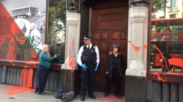 Protesto na embaixada brasileira