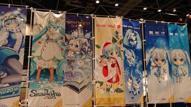 Carteles de Hatsuke Miku en Japón